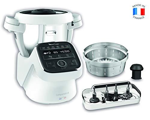 MOULINEX COMPANION XL Robot Cuiseur Multifonction Bol 4.5L 12 programmes automatiques Soupes Viande Gaspacho Risotto Robot de Cuisine Batteur Mélangeur Hachoir Pétrin Cuisson Vapeur 1550W HF80CB10