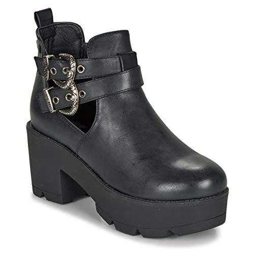 COOLWAY, Botin con Hebillas Color Negro para Mujer, 68090-38