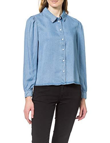 ONLY Damen ONLBILLIE Life DNM Shirt QYT Bluse, Medium Blue Denim, M