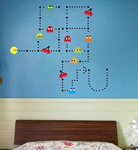 Pac-Man Muurstickers Home Decoration Slaapkamer Koffer Muurtattoo Kinderkamer Meisjes Decoratieve Vinyl Baby 12 stuks