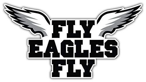 Philadelphia City Eaglez Football Die-Cut Sticker - Wings Sport Car Bumper Decal 6'' X 3''