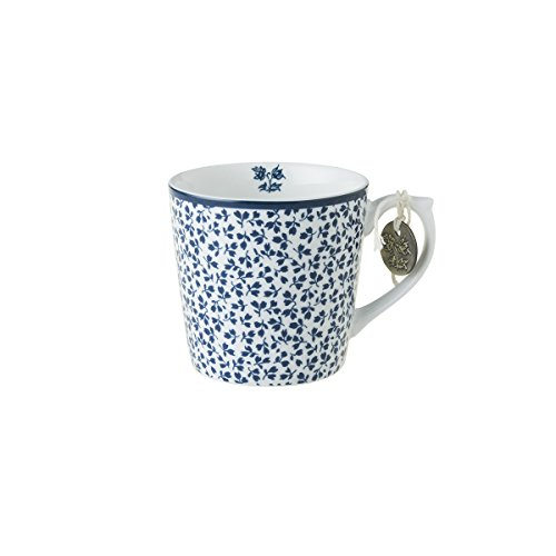 Laura Ashley - Henkelbecher, Henkeltasse, Tasse - Blueprint Floris - Volumen: 220ml - Klein