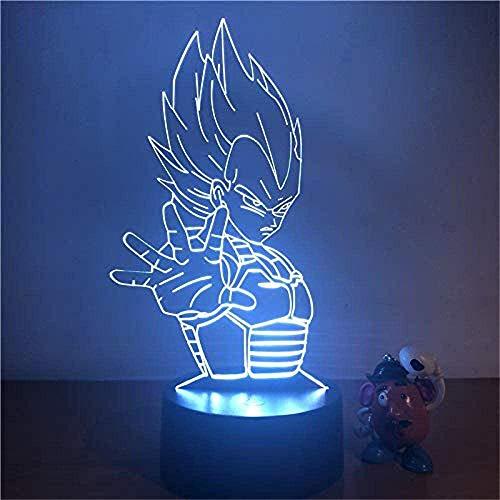 Lampade 3D Illusione Ottica Luce Notturna, Con LED da Tavolo Illuminazione Luce di Notte 16 Colori Controllo Tattile Lampada Decorazione da Comodino Nataleregalo di compleannovegeta