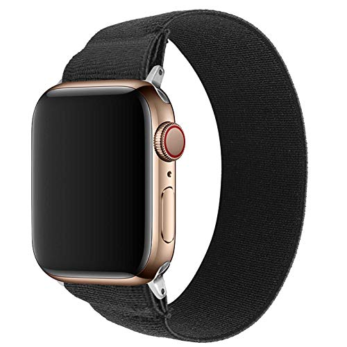 GVFM Solo Loop Elastic Bands Compatible with Apple 42/44mm,Suitable for Iwatch Series 5/4/3/2/1 Soft Elastic Bracelet Female Strap Replacement Wristband