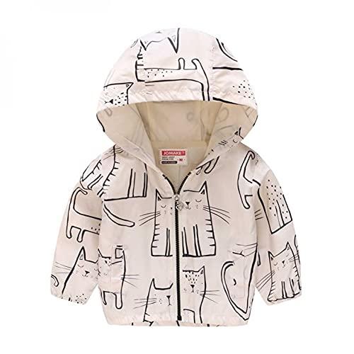 Abrigo para bebé niña, niña, niño o niña, sin forro con capucha, cortavientos, ropa de exterior de manga larga para niños, cortavientos de 1 a 6 años, blanco, 2-3 Años