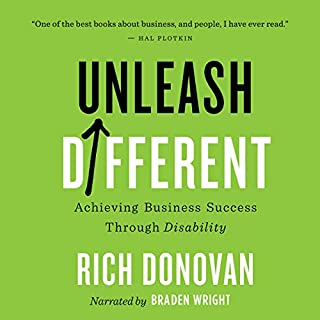Unleash Different     Achieving Business Success Through Disability              Written by:                                                                                                                                 Rich Donovan                               Narrated by:                                                                                                                                 Braden Wright                      Length: 8 hrs and 37 mins     2 ratings     Overall 5.0