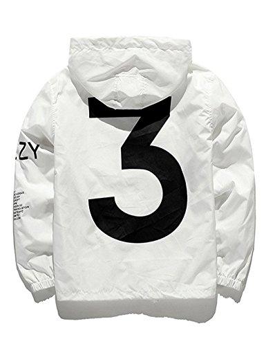 Alittly Unisex Windbreaker, Kapuzenjacke Damen und Herren Mode Jacke Streetwear Windjacke Outerwear Winddicht atmungsaktiv