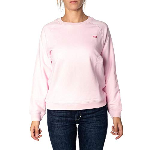 Levi's Relaxed Graphic Crew Felpa, Batwing Chest Hit Pink Lady, S Donna