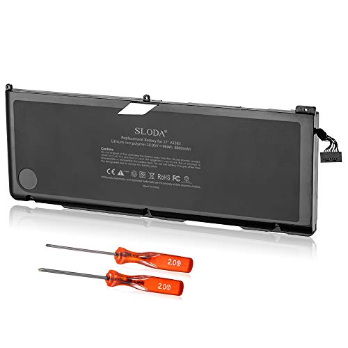SLODA Battery Compatible with Apple MacBook Pro 17-Inch A1383(A1297,Early-2011,Late-2011,Version) Fitting MacBook Pro 17' A1383 Laptop Battery [Li-Polymer 10.95V 8800mAh]