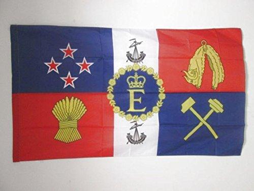 AZ FLAG Drapeau Etendard Royal de Nouvelle-Zélande 150x90cm - Drapeau Royal néo-zélandais 90 x 150 cm Fourreau pour hampe