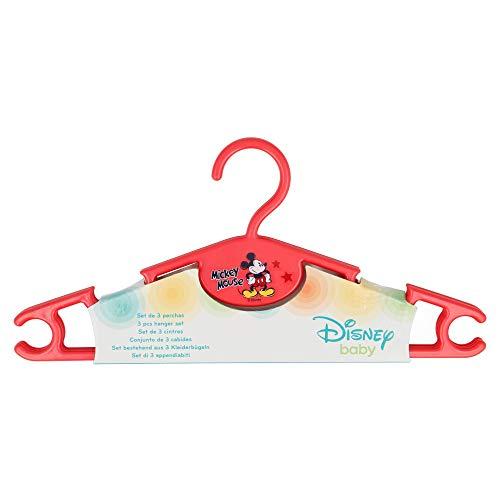Stor Lot de 3 cintres pour vêtements de bébé. Mickey Mouse – Disney – 90 garçon CRFE