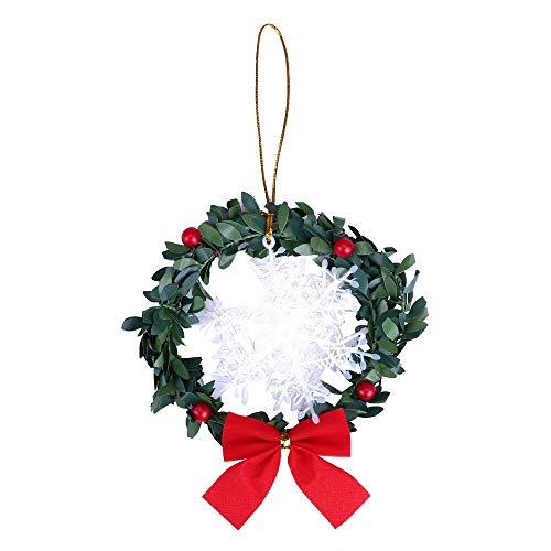 CROSYO 1 unids Feliz Navidad Árbol Adorno for la decoración del hogar Navidad Guirnalda Guirnalda Ratán Anillo for la Puerta de la Pared Colgando Navidad Decoración de la Fiesta