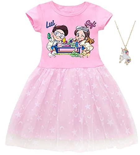 ZKomoL Youtuber Bambina Abbigliamento Vestito Bambina Vestitome Maglietta Bambina
