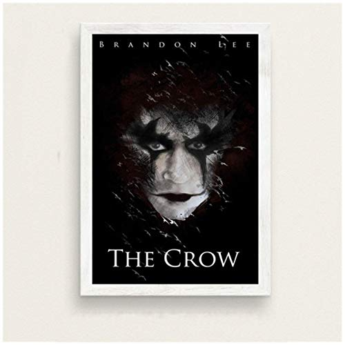 Póster e impresiones The Crow Classic Horror Movie Art Painting Vintage Canvas Poster Wall Home Decor-20x28in Sin marco