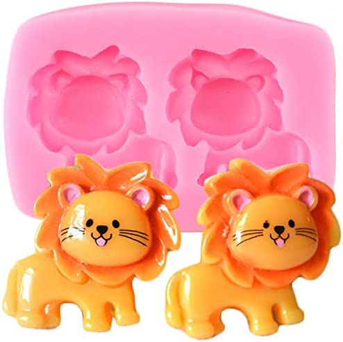 XIAOLING Cartoon Lion Silicone Bargain Molds Moul Superlatite Topper Fondant Cupcake
