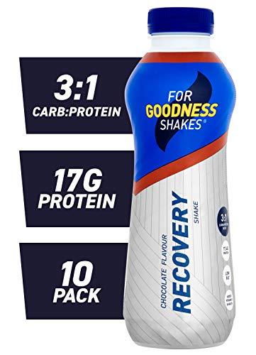 For Goodness Shakes Recovery Protein Drink, 475 ml, Chocolate, Pack of 10