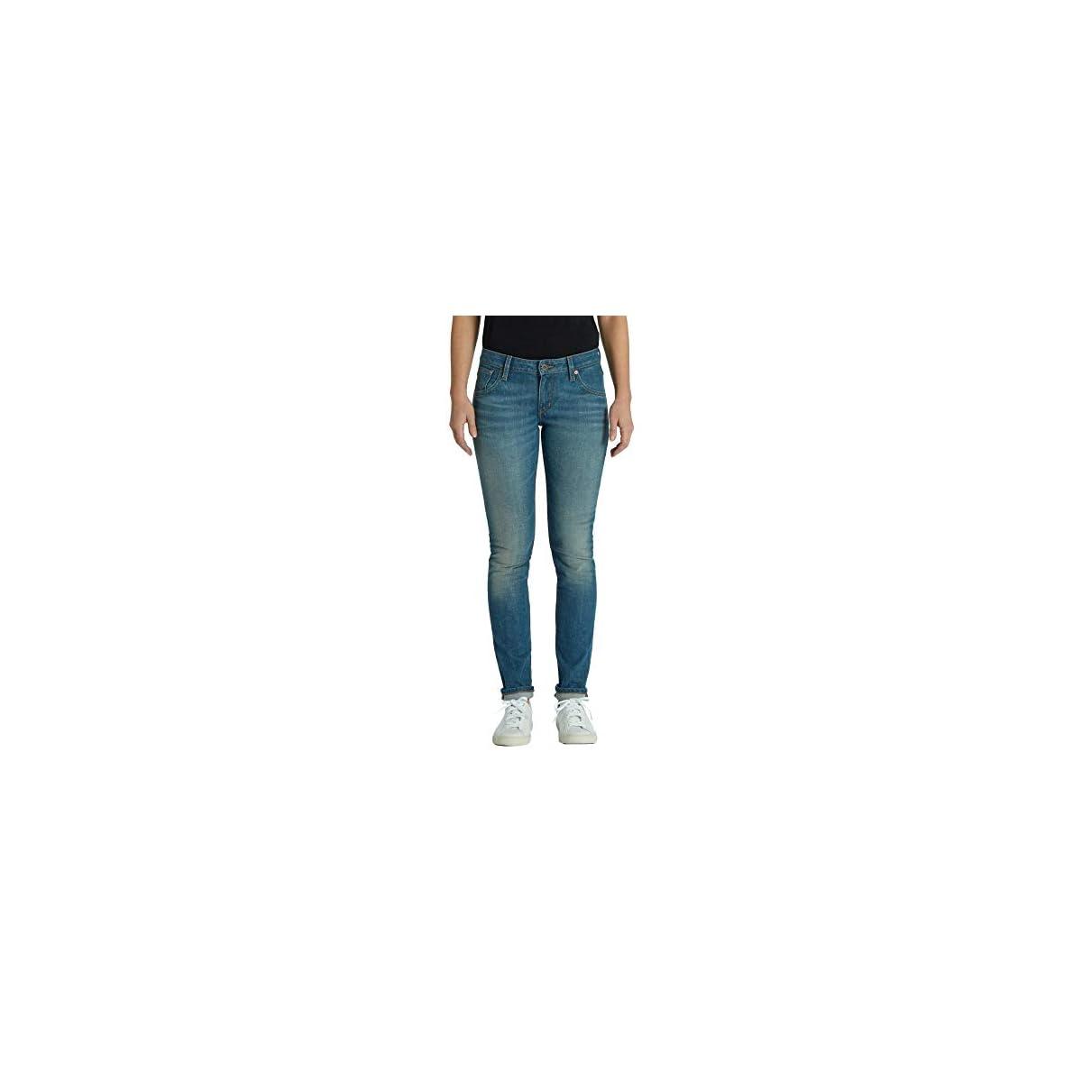 Kuyichi Damen Jeans Lisa Slim Bio-Baumwolle Authentic-Blue