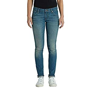 Kuyichi Damen Jeans Lisa Slim Bio-Baumwolle Authentic-Blue