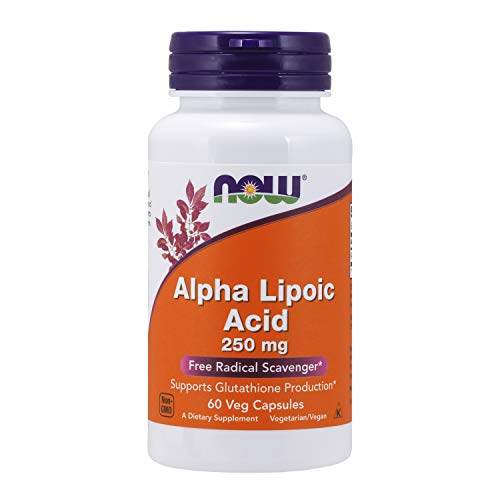 NOW Supplements, Alpha Lipoic Acid 250 mg, Supports Glutathione Production*, Free Radical Scavenger*, 60 Veg Capsules