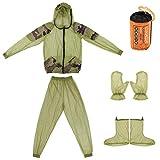 Lixada Traje Anti-Mosquito Ligero Suit Unisexo con Malla Ultra-Fina para Senderismo Pesca Camping Alimentando Abejas