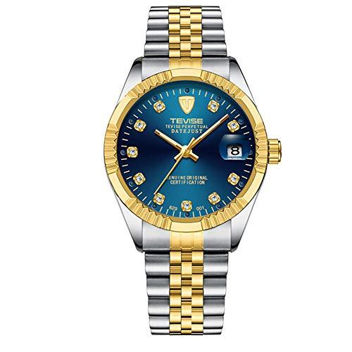 Relojes para Hombre Reloj mecánico automático para Hombres Fecha de Acero Inoxidable Reloj de Pulsera Impermeable para Negocios Relogio Masculino
