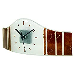 River City Clocks Wall or Mantel Red Watch Shaped Glass Clock