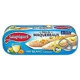 SAUPIQUET - Filets Maquereaux Vin Blanc Et Aromates 176G - Lot De 4 - Offre Special