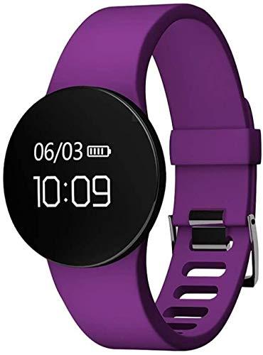 Pantalla táctil reloj inteligente Bluetooth deportes pulsera de consumo de calorías temporizador cronómetro actividad tracker-Purple