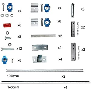 ECO-Worthy Adjustable Multi-Pieces Solar Panel Mounting Brackets Kit System for 1-4pcs Solar Panels