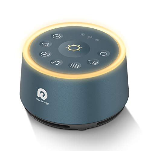 Dreamegg D1 Sound Machine - White Noise Machine with Baby Night Light for Sleeping, High Fidelity Sounds, Timer & Memory Feature, Sound Machine for Baby Adults, Home, Office, Travel (Navy Blue)