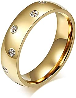 Gold Plated Ring For Women By Bluna, Size 7, R035