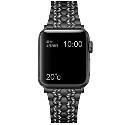 Correa de diamante para Apple Watch 6 Band 44mm 42mm iwatch band serice 5 4 3 2 1 Correa de acero inoxidable Apple Watch 5 correa 38mm 40mm