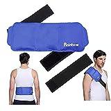 Zur¨¹ck Eis Gel Pack wiederverwendbare hei?e kalte Therapie Kompresse Wrap mit elastischen Riemen, ideal f¨¹r die Chirurgie Erholung, Linderung von Sportverletzungen, Schwellung, 13'x 5.7', blau