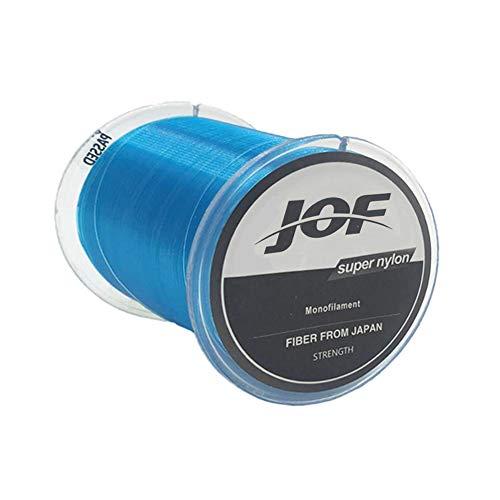 REYOK Monofilo Nylon Linea de Pesca,Material Monofilo Linea de Pesca de 500 m,de Mar Fuerte Accesorios Monofilamento Carpa Linea de Pesca Sedal(Azul)