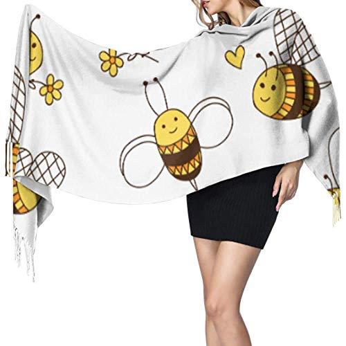 Hard werken kleine honing bij vrouwen lichtgewicht sjaal sjaal sjaal sjaal wrap Womans sjaals wraps grote zachte Pashmina extra warm