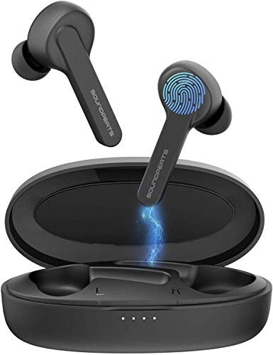 [ Verbeterd ] SoundPEATS Bluetooth hoofdtelefoon In-ear oordopjes Echte draadloze koptelefoon Bluetooth 5.0-headset Aanraakbediening met Geïntegreerde microfoon Mini oordopjes met 3D stereogeluid alle BT-apparaten Feedback geben Verlauf Gespeichert Community