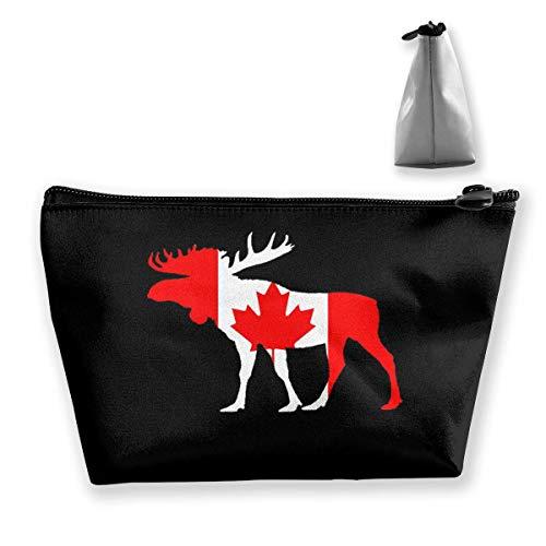Canada élan Portable Maquillage Recevoir Sac Stockage Grande Capacité Poches Main Travel Wash Bag