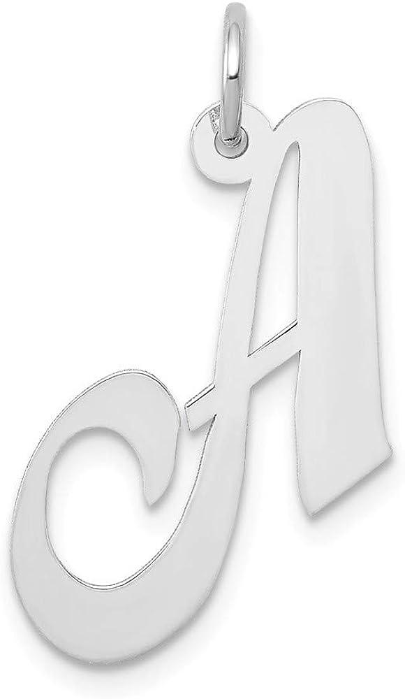 14k Oakland Mall Medium Fancy Script Letter Initia Personalized Popular standard Monogram Name