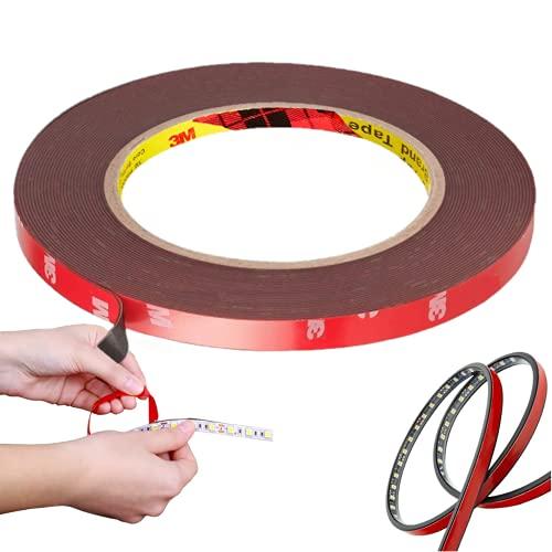 CANOPUS 3M Cinta Doble Cara Extrafuerte 3M (10mm x 9,75m), Impermeable 3M Cinta Adhesiva Doble Cara 3M Para Tiras LED,...
