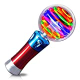 Mytoys and Gift Light-Up Spinning Star Wand Princess LED Rave Toy Stick Flashing Wizard Ball