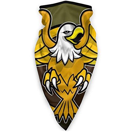 Proud Clothing Vektor-Logo von Angry Eagle verbreiten den Flügel und die Klauen Gesicht Bandana Gesicht Rave Sturmhaube Schal Hals Gamaschen für Staub Wind Motorrad Abdeckung Männer und Frauen