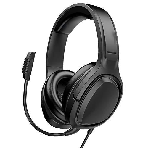 LSHUAIDJ E-Sport-Gaming-Headset mit USB-Anschluss, Kopfhörern, 3,5-mm-Headset mit Geräuschunterdrückung, geeignet für PC / PS4 / Fußball-Basketballspiele