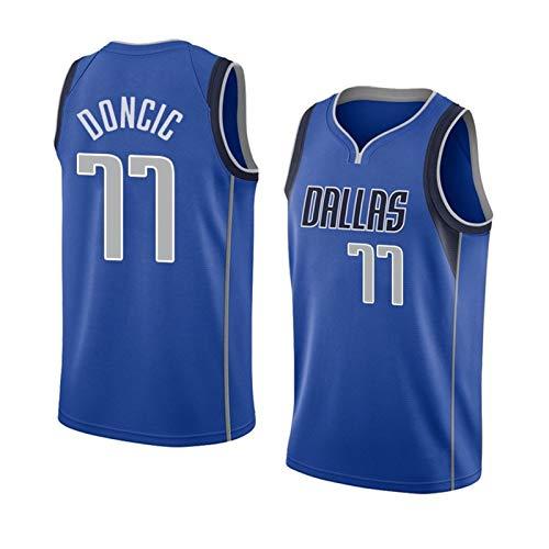 LIPENG Jersey di Pallacanestro da Uomo, NBA Dallas Mavericks # 77 Luka Doncic Basket Blayball Jersey, Asciugatura Rapida, Prova di Sudore, Maglia da Basket (Color : City Shorts, Size : M)
