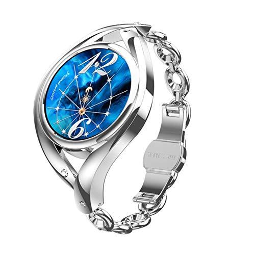 LHL Smart Watch, IP68 Impermeable, Damas De Bricolaje, Dial De Bricolaje, Superficie De Acero Inoxidable, Reloj Inteligente De Damas, BT5.0 LEM1995 Reloj Regalaje para Mujer,B