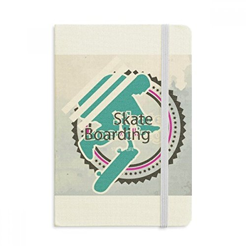 DIYthinker Sport Snowboarden Atleten Illustratie Notebook Stof Hard Cover Klassiek Dagboek A5 A5 (144 X 210mm) Multi kleuren