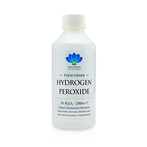 Peróxido de hidrógeno–de grado de alimentos más puro grado 3%–250ml–unstabilized y aditivo libre–10vols
