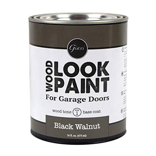 Giani Wood Look Paint for Garage Doors- Step 1 Wood Grain Base Coat Pint (Black Walnut)