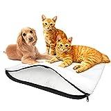 BellMietz® selbstwärmende Katzendecke [Handmade in Europa] - 45x60cm große selbstheizende Decke Katze - Kuschelig weiche Eco Sherpa Heizdecke Katze & Hunde