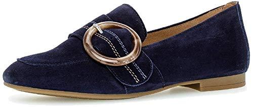 Gabor Damen SlipperMokassins, Frauen Slipper, Schuh Loafer businessschuh Damen Frauen weibliche Ladies feminin elegant,Bluette (Natur),41 EU / 7.5 UK