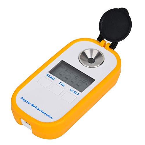 Rifrattometro digitale a cristalli liquidi Brix, rifrattometro professionale accurato con concentrazione di zucchero al miele, frutta verdura succhi di frutta Bevande analcoliche Brix (Giallo)